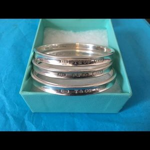 "Tiffany & Co ""1837"" Thin Concave Bangle Bracelet"